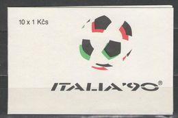 Czechoslovakia - SOCCER / FOOTBALL 1990 MNH - Unused Stamps