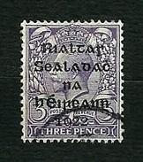 IRLANDA 1922 - Governo Provvisorio - Effigie Di Re Giorgio V -  3 P. Violetto - Sg:IE 5 - 1922 Governo Provvisorio