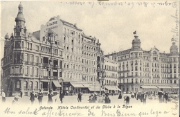 OOSTENDE  1906   OSTENDE  HOTELS CONTINENTAL ET DU GLOBE A LA DIGUE