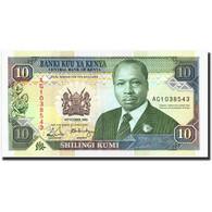 Kenya, 10 Shillings, 1989, KM:24a, 1989-10-14, SPL - Kenya