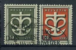 Schweiz 1945 Mi. 443-444 Gestempelt Qualität: 100% Symbol Glaube Liebe Hoffnung