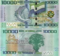 SIERRA LEONE 10000 LEONES 2013 P # 33b UNC - Sierra Leone
