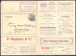 ALLEMAGNE EMPIRE, Entier Postal, Carte Lettre  Type: GERM. 5 PF Série: 17 BERLIN/chaussure/porcelaine/cristal/mac. Ecrir - Alemania