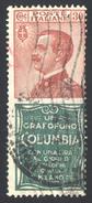 1925 PUBBLICITARIO COLUMBIA CENT. 30 N.9 USATO - USED - Pubblicitari