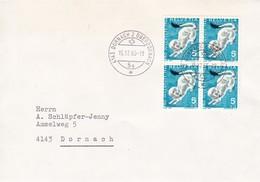 4143 Dornach 2, Oberdornach 15.12.1966, SBK: J 215  Mi:845, Hermelin - Lettres & Documents