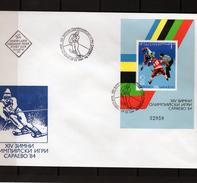 Bulgaria 1984, Winter Olympic Games In Sarajevo, Hokey, BF In FDC - Invierno 1984: Sarajevo
