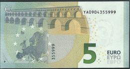 € 5 GREECE  Y001 C1  DRAGHI  UNC - 5 Euro