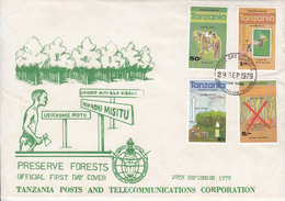 1979 Tanzania Tree Forest Preservation Green Environment  First Day Cover - Tanzania (1964-...)