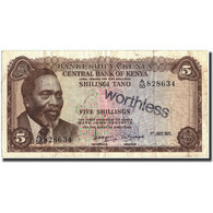 Kenya, 5 Shillings, 1971, KM:6b, 1971-07-01, TB+ - Kenya