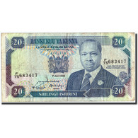 Kenya, 20 Shillings, 1989, KM:25b, 1989-07-01, TB - Kenya