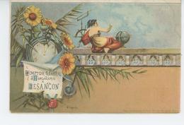 BESANCON - Carte Pub Pour Le COMPTOIR GENERAL D'HORLOGERIE A BESANÇON - Signée ULYSSE CAPUTO - Besancon