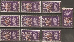Great Britain 1961 SG 624A 3d Post Office Savings Bank, Good Sound Used, X10, Stamps As Shown On Scan - Timbres