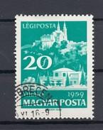 "Ungarn 20 F AirMail Plattensee Tihany 1959 - ""Debrecen"" 2 Kreis Gestempelt"