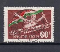 """Ungarn 60 Ft Jahrestag Befreiung 1960 - """"Budapest"""" Ideal Zentrisch 1 Kreis Gestempelt"""