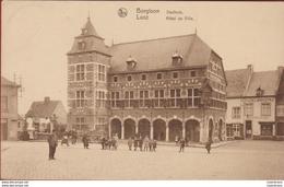 1928 Borgloon Looz Stadhuis Hotel De Ville Geanimeerd ZELDZAAM Zadelmakerij - Borgloon