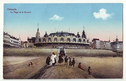 Oostende / Ostende - La Plage Et Le Kursaal - Gelaufen Als Feldpost 1917