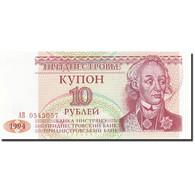 Transnistrie, 10 Rublei, 1993-1994, 1994, KM:18, NEUF - Billets