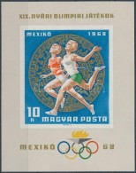 ** 1968 Mexikói Olimpia Vágott Blokk (ráncok) - Zonder Classificatie
