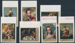 ** 1968 Festmények (IV.) Vágott ívszéli Sor (3.000) - Zonder Classificatie