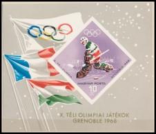 ** 1967 Téli Olimpia Vágott Blokk - Zonder Classificatie