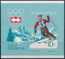 ** 1964 Téli Olimpia (II.) Vágott Blokk (5.000) - Zonder Classificatie