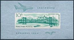 ** 1964 Erzsébet Híd Vágott Blokk (20.000) (benyomódás) - Zonder Classificatie