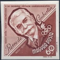 ** 1963 Események - Perre De Coubertin Vágott Bélyeg (2.000) - Zonder Classificatie