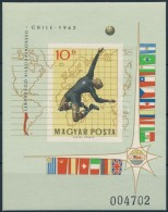 ** 1962 Labdarúgó VB (I.) - Chile Vágott Blokk (5.000) - Zonder Classificatie