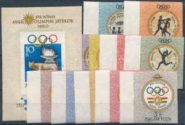 ** 1960 Olimpia (III.) - Róma ívszéli Vágott Sor + Vágott Blokk (12.000) - Zonder Classificatie