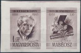 ** 1955 Bélyegnap (28.) - Bartók Vágott Bélyeg Jobb Oldali Szelvénnyel (10.000) - Zonder Classificatie