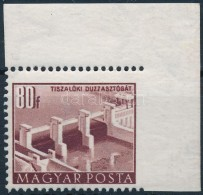 ** 1951 Épületek 80f ívsarki Bélyeg, A Jobb Oldalon Fogazás Nélkül,... - Zonder Classificatie