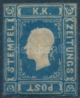 * 1858 Hírlapbélyeg Kék Szűkre Vágva - Zonder Classificatie