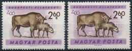 ** 1960 Állatkert 2,60Ft Halványabb Lila Színnel, Elcsúszással +... - Zonder Classificatie