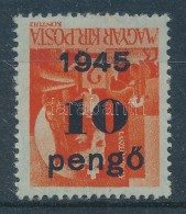 ** 1945 KisegítÅ' Bélyegek (IV.) 10P/2f Fordított Felülnyomással (25.000) - Zonder Classificatie