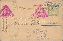 1918 Hadifogoly Levelezőlap 'EP BELGRAD' + 'LAGERPOST NEZSIDER' (Rainer 1000 P++) - Zonder Classificatie