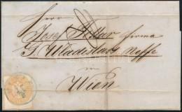 1864 1863 15kr Levélen Kék VIRJE (Gudlin 500 P) - 'KOTTORI' - 'WIEN' (regiszterhajtás /... - Zonder Classificatie