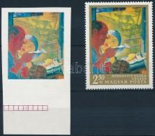 (*) 1967 Festmények III. 2,60Ft Vágott  ívszéli Bélyeg Arany és Fekete... - Zonder Classificatie