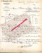 SUISSE- LETTRE SOCIETE CREDIT SUISSE- SCHWEITZERISCHE KREDITANSTALT- ZURICH- 1892 A M. FATINET ROY SOURDIEU ROANNE - Suisse
