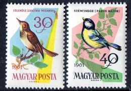 PIA - UNGHERIA - 1961 -  Uccelli Dei Boschi E Dei Campi  - (Yv 1478-85) - Sperlingsvögel & Singvögel