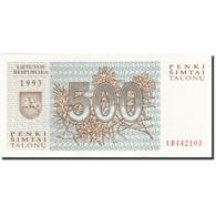 Lithuania, 500 Talonu, 1993, 1993, KM:46, NEUF - Lituanie