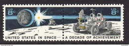USA 1971 Decade Of Space Achievements Pair, MNH (SG 1437/8) - Vereinigte Staaten