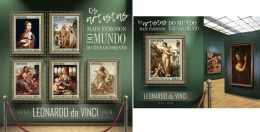 Guinea Bissau 2017 Leonardo Da Vinci Italy Painter Paintings MS+S/S GB17406 - Art