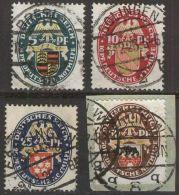 DEUTSCHES REICH 1926 MI-NR. 398/01 O Used