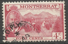 Montserrat. 1951 KGVI. 4c Used. SG 126