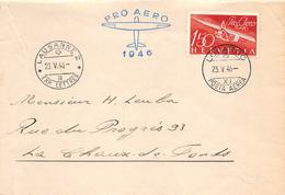 SUISSE 1946.- VOL. AEREO LAUSANNE- LOCARNO - Poste Aérienne