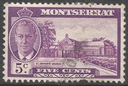 Montserrat. 1951 KGVI. 5c Used. SG 127