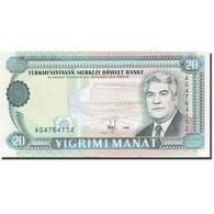 Turkmanistan, 20 Manat, 1995-1998, 1995, KM:4b, NEUF - Turkménistan