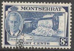 Montserrat. 1951 KGVI. 8c Used. SG 129