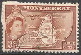 Montserrat. 1953-62 QEII. 3c (Type I) Used. SG 139 - Montserrat