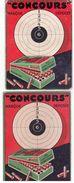 """Publicité Pour Les Cartouches """"Concours"""" -2 Feuilles Cartonnées Dim 14,5x11 - Unclassified"""